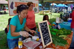 Nghi sells Asian Noodle salad at the Alliance for the Arts GreenMarket